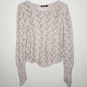 Nic+Zoe Knit Tan Sweater Medium
